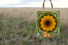 Ravelry: The Enchanted Garden Tote pattern by Courtney Laube