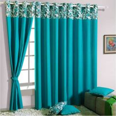 Turquoise Blue Curtains For Living Room Turquoise Curtains Living Room Fzowck Blue Curtains Living Room, Bedroom Drapes, Home Curtains, Curtains With Blinds, Window Curtains, Master Bedroom, Blue Drapes, Blackout Curtains, Valance