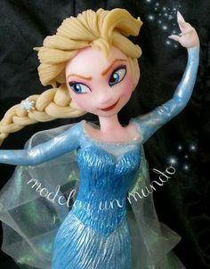 Elsa frozen porcelana fria