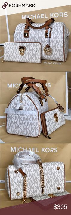 🌴Michael Kors Set🌴 100% Authentic Michael Kors Purse Crossbody and Wallet, brand new with tag!😍😍😍 Michael Kors Bags Crossbody Bags