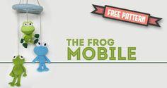 Amigurumi Frog Mobile (just put it through Google Translate for the english translation)