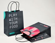 TAPS custom paper shopping bags by Morgan Chaney Packaging