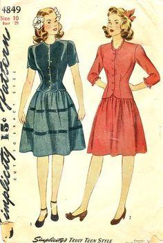 Teen's fashion 1930s-40s