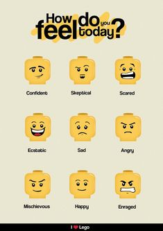 Lego emoticons | Image by Designholic