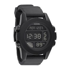 If you need more than just the time then the Unit black digital watch from Nixon has it all for you.