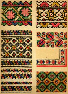 Embroidery Folk ukrainian folk embroidery: Ukrainian Folk Embroidery, I. Krasyts'ka, plate embroidery of Volyn' Oblast, plate embroidery of L'viw Oblast, plate embroidery of Ivano-Frankiwsk Oblast Folk Embroidery, Learn Embroidery, Embroidery For Beginners, Embroidery Techniques, Cross Stitch Embroidery, Embroidery Patterns, Cross Stitch Patterns, Floral Embroidery, Bargello