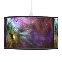 Orion Nebula purple swirls NASA Ceiling Lamp