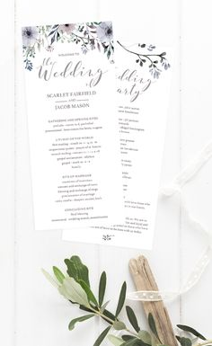 Let your wedding guests know what to expecton your wedding day with this double sided Steel Gardenwedding program. Print your own with this editable template. Simply download, edit, print and trim! And with the included detailed instruction guide, customising these programs will be an easy and fun DIY project that anyone can do. Get 15% off by signing up for our newsletter at www.papersizzle.com.