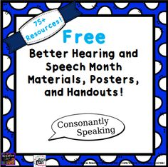 75+ Free Materials to Promote Better Hearing and Speech Month (BHSM) 2015