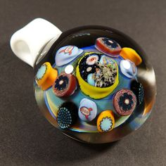 moonsand tessellated pendant by lazuli flux zac jorgenson chelsea bent softglass - Heady Glass Pendants