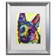 German Shepherd by Dean Russo Framed Painting Print