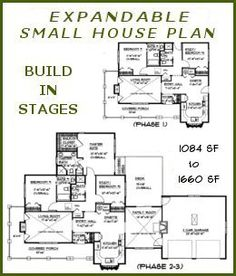 build in stages house plans - bs-1266-1574-ada small expandable