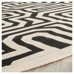 Linz Rectangle 2'3 X 14' Patio Rug - Sand / Black - Safavieh, Brown
