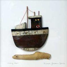 Richard Goodwin Jones - Raku Fishing Boat