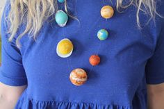 Now that's pretty: DIY Planet Necklace