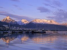 Sunset over Ushuaia, Tierra Del Fuego, Argentina