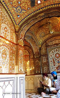 The Golden Temple (ਹਰਿਮੰਦਰ ਸਾਹਿਬ) Interior.