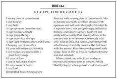 Recipe for Recovery.... sara❤️