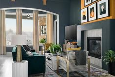 Learn more about Tiffany Brooks, designer of HGTV Smart Home and the season eight winner of HGTV Star. Architectural Digest, Tall Fireplace, Fireplace Ideas, Fireplaces, Fireplace Hearth, Highland Homes, Tech House, Comfortable Sofa, Sit Back And Relax