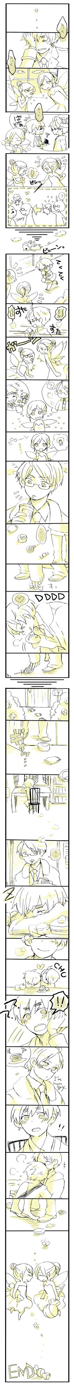 The Importance of the House Fairy by キラカkiraka - Hetalia - America / England     http://www.pixiv.net/member.php?id=1820435 <3