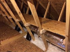 Diy Storage Shelves In The Attic  •  Free tutorial with pictures on how to make a shelf in under 120 minutes