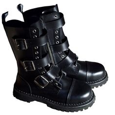SPIKED Strap Womens Combat Boots | 気に入る物 | Pinterest | Spikes ...