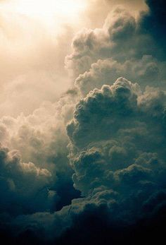 And the clouds rose up in endless towers, inspiring dreams and fantasy...