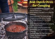 The Best Dutch Oven for Camping to Cook Delicious Dishes Even In The Wild – TopcellenT Best Dutch Oven, Best Oven, Dutch Oven Recipes, Dutch Oven Camping, Camp Chef, Delicious Dishes, Camping Meals, Cooking Tips, Forget