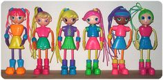 Spagetti Girls were pretty cool. I had a girl with blonde hair and a girl with purple hair.