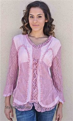 Jocelyn Blouse In Pink, Womens Fashion, Womens Styles, Boho, Boho Chic, Clothing for Women from Styles2you.com