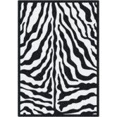 Found it at Wayfair - Black & White Zebra Glam Black Ink Area Rug