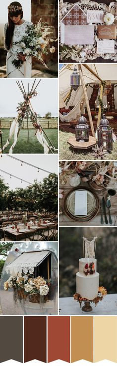 New Boho Wedding Inspiration // see more on www.onefabday.com