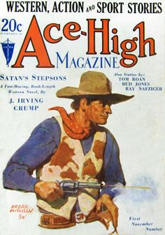 """During the 1920's and 1930's A.R. Mitchell painted over 160 images for western books and magazines. Many of the original paintings can be seen every day in our museum. Mitchell painted the cowboy in action with pistol drawn, riding a bucking bronco or wrestling a steer. His covers for True West, Western Story, Ace-High, Cowboy Stories and many more were in his words """"Paintings of the real cowboy, not the movie variety"""". Many famous writers of the day including Zane Grey, Max Brand and Jack…"""