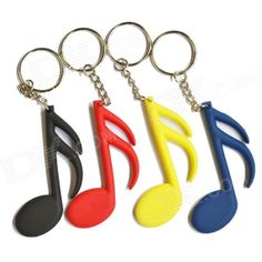 DEDO MG-58 Music Notes Styled PVC Key Chains - White + Black + Multicolored (4 PCS) - US$ 3.57 - 03/04/2014 - deal-dx