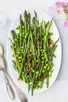 Don't skip the sesame seeds in this green beans, asparagus and peas medley — they really make it.
