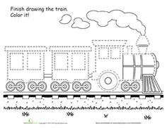 donald crews freight train coloring pages | freight train printables | Kids | Pinterest | Donald o ...