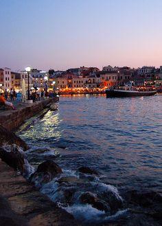 Venetian Harbor in Chania on the Greek island of Crete
