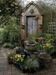 Little brick garden storage