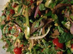 Recipe Thai Beef Salad by Mr_Rushy - Recipe of category Main dishes - meat Asian Recipes, Beef Recipes, Cooking Recipes, Ethnic Recipes, Recipies, Healthy Snacks, Healthy Eating, Healthy Recipes, Thai Beef Salad