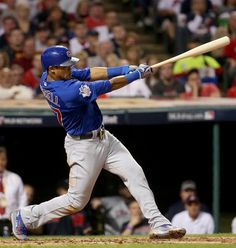 Chicago Cubs shortstop Addison Russell hits a grand slam home run in the third inning of Game 6 of the 2016 World Series. First World Series, Chicago Cubs World Series, Baseball Players, Baseball Tickets, Fight Shorts, Cubs Win, Go Cubs Go, Chicago Cubs Baseball, Mlb Teams