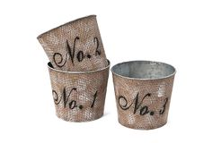DIY INSPIRATION :: Asst of 3 Numbered Tin Buckets