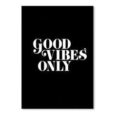Americanflat Good Vibes Only 2 Poster Textual Art
