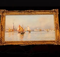 Venice Oil on Canvas | Charlotte Nail Antiques Showroom 165 at The Houston Design Center