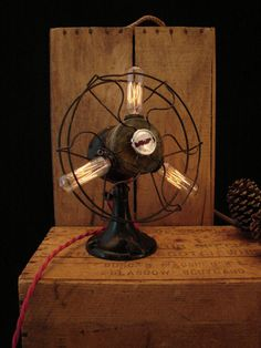 Table Lamp Upcycled Vintage Electric Fan...Another Favorite!