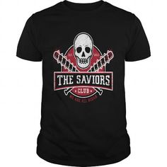 The Saviors Club baseball t shirt;