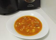 Sopa de almejas y gambas para #Mycook http://www.mycook.es/cocina/receta/sopa-de-almejas-y-gambas
