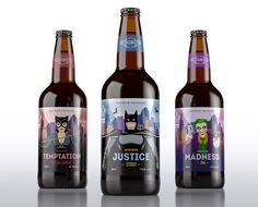 Gothan Brewery, creativo diseño de packaging inspirado en personajes de DC Comics