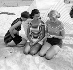 vintage summer stripes! Nina Leen for LIFE, April, 1950