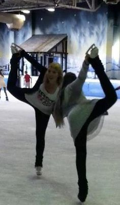Me and my BFF figure skating :)