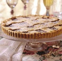 Austrian Linzer Torte. Created in a small Austrian town, this cinnamon-spiced raspberry jam dessert has justifiably become a worldwide classic.